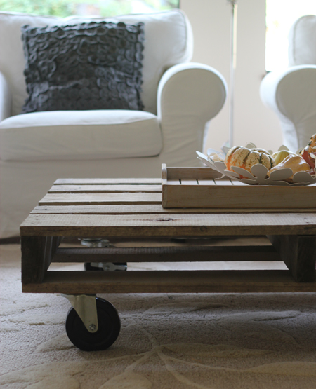 FLUTTER FLUTTER  DIY Pallet Coffee Table