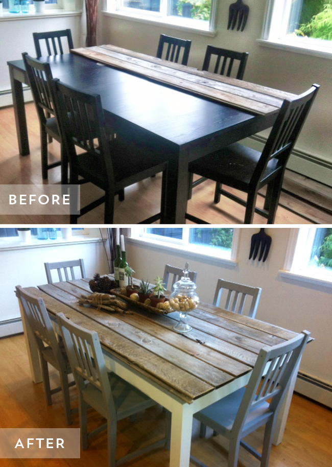 Table Before & After